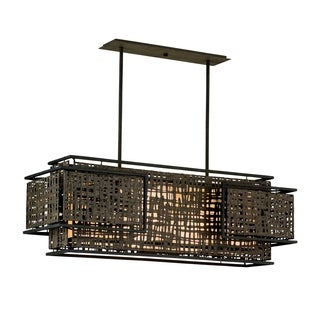 Corbett Lighting Shoji 4-light Bronze Pendant Island