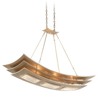 Corbett Lighting Muse 6-light Silver Pendant Island