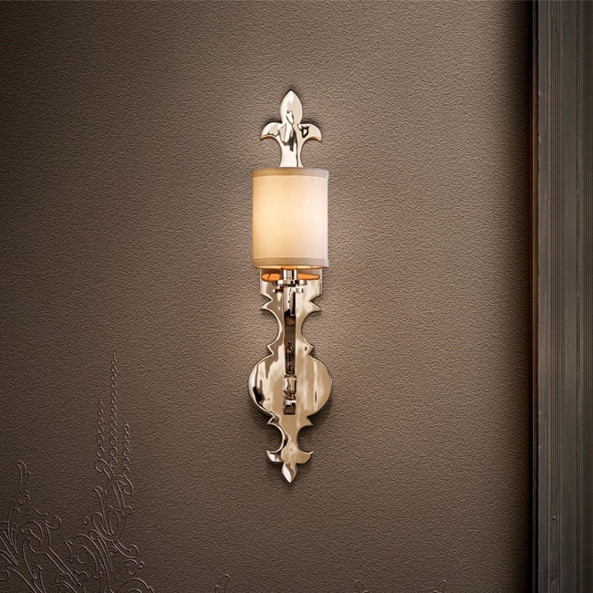 watch 8b448 2a439 Corbett Lighting Esquire 1-light Nickel Wall Sconce