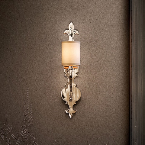 Corbett Lighting Esquire 1-light Polished Nickel Wall Sconce