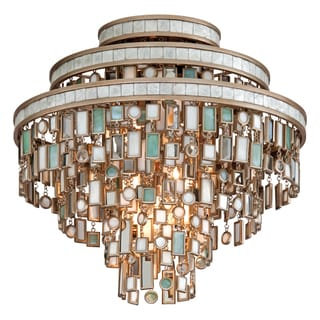 Corbett Lighting Dolcetti 3-light Silver Semi-flush