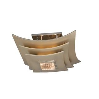Corbett Lighting Muse 3-light Silver Semi-Flush