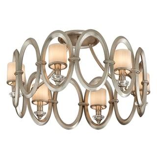 Corbett Lighting Embrace 6-light Silver Semi-Flush