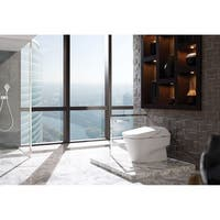 Toto Neorest 700H Dual Flush 1.0 or 0.8 GPF ADA Height Toilet with Integrated Bidet Seat & ewater+, Cotton White (MS992CUMFG#01)
