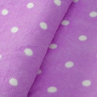 Expressions Printed Dot Plush All Season Blanket