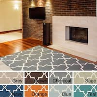 Hand-Tufted Cassadee Moroccan Tiled Wool Rug