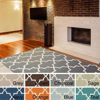 Hand-Tufted Jennifer Moroccan Tiled Wool Rug (5' x 8')