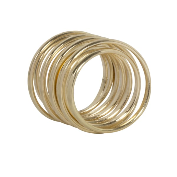 NEXTE Jewelry Goldtone Any Finger Fashion Wire Coil Ring