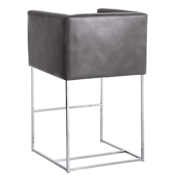 Marvelous Shop Sunpan Club Agency Grey Contemporary Bar Stool Free Caraccident5 Cool Chair Designs And Ideas Caraccident5Info