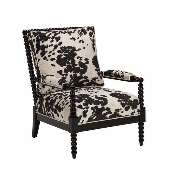 Shop JAR Designs Paloma Black Faux Cow Print Chair