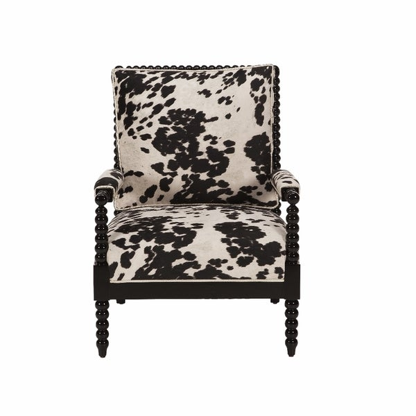 Jar Designs Paloma Black Faux Cow Print Chair Free
