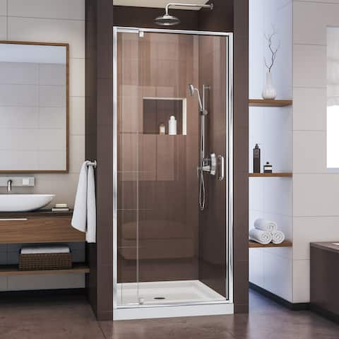 "DreamLine Flex 28-32 in. W x 72 in. H Semi-Frameless Pivot Shower Door - 28"" - 32"" W"