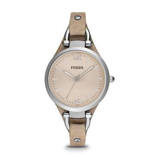 Fossil Women's Georgia ES2830 Beige Leather Analog Quartz Watch with Beige Dial|https://ak1.ostkcdn.com/images/products/9199022/P16371147.jpg?impolicy=medium