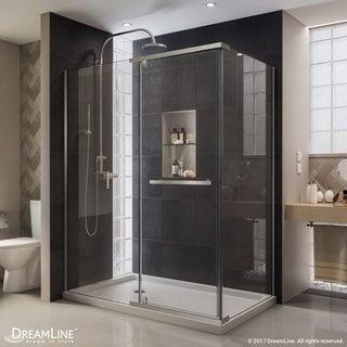 DreamLine Quatra 58-3/8 to 58-3/4 in. W x 34-3/8 in. D x 72 in. H Pivot Shower Enclosure