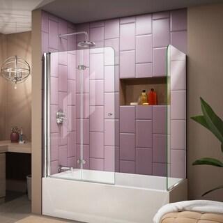 DreamLine Aqua Fold 56 to 60 in. W x 30 in. D x 58 in. H Hinged Tub Door