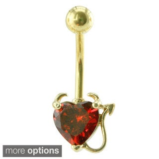Supreme Jewelry Bad Girl Heart with Horns and Tail Belly Ring