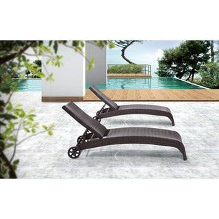 Zuo Lido Brown Chaise Lounge