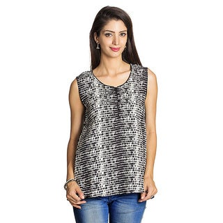 Handmade Mohr Women's Black/ Off-white Printed Sleeveless Tunic (India)|https://ak1.ostkcdn.com/images/products/9199071/P16371257.jpg?_ostk_perf_=percv&impolicy=medium