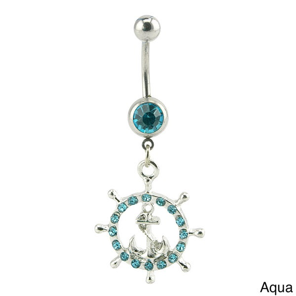 Supreme Jewelry Nautical Wheel and Anchor Belly Ring