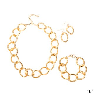 Alexa Starr Large Twisted Link Chain Jewelry Set