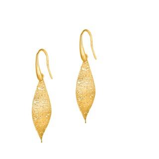 14k Yellow Gold Stilnovo Woven Tear Drop Earrings