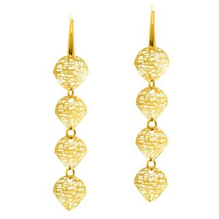 14k Yellow Gold Stilnovo 4-ball Drop Earrings