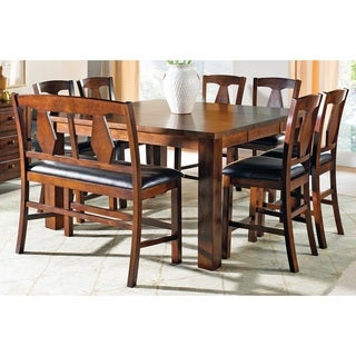 Greyson Living Lansing Medium Oak and Leatherette Counter-height Dining Sets