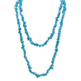 "PalmBeach Nugget-Cut Turquoise Strand Necklace 54"" Naturalist"
