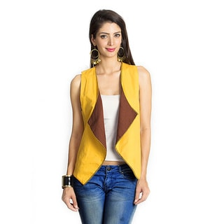 MOHR Women's Blue/ Yellow Reversible Vest (India)