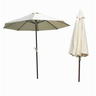 Panama Jack Island Breeze 9-foot Cream Canvas and Aluminum Umbrella with Crank