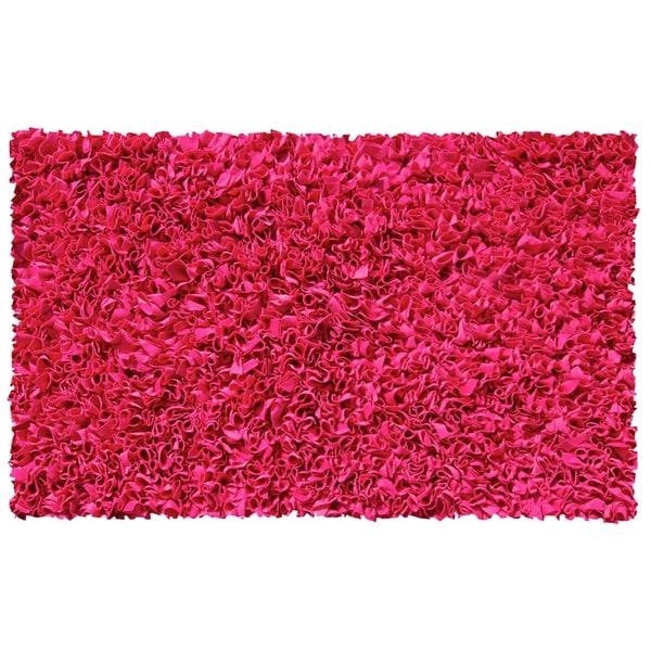 Pink Shaggy Raggy Rasberry (4'7 x 7'7)