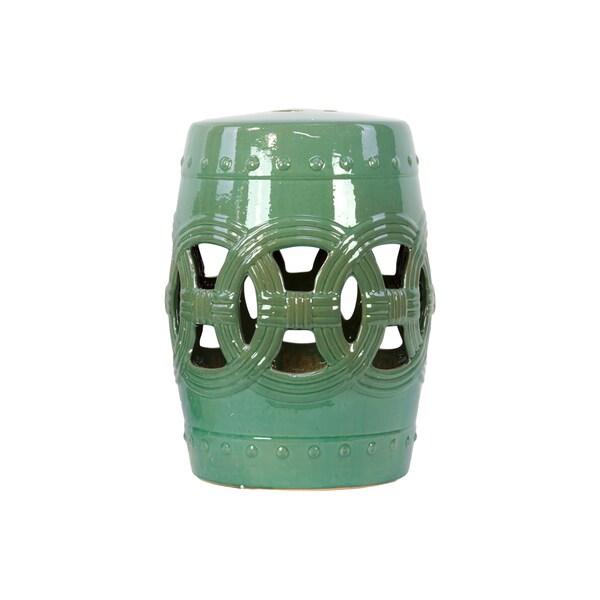 Genial Lime Green Ceramic Garden Stool