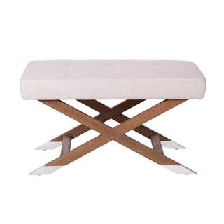Sunpan '5West' Vivian Fabric Reclaimed Wood Bench