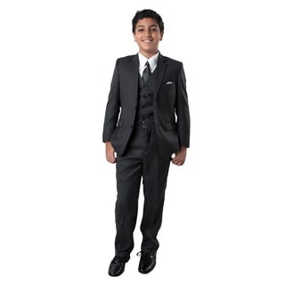 Tazio Boy's Grey 5-piece Suit