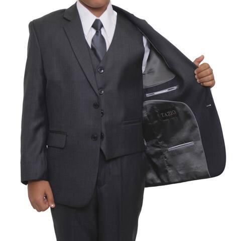 Tazio Boy's Grey 5-piece Suit