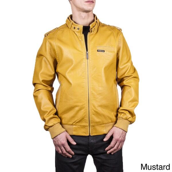 Men's Leatherette Iconic Racer Jacket