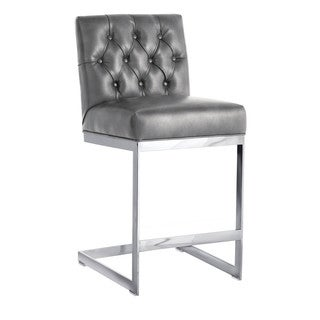 "Sunpan 'Club' Cavalli Grey Nobility 26"" Counter Stool"