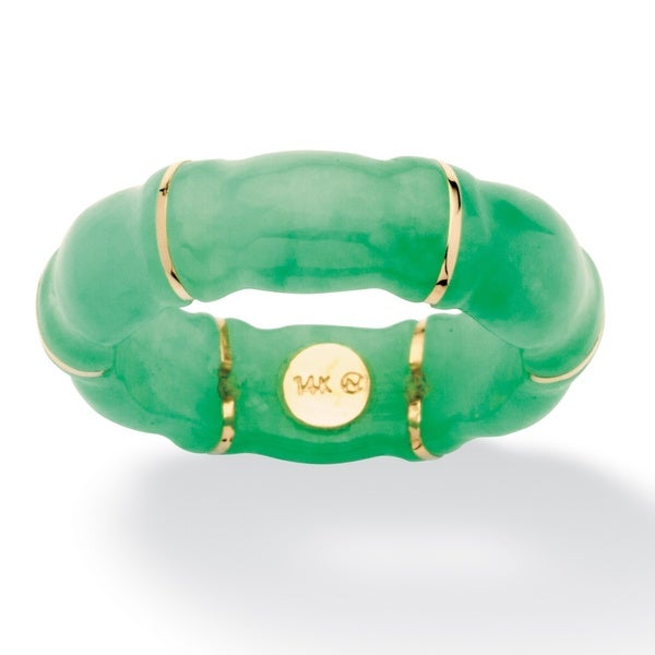 Jade Bamboo Ring in 10k Gold Naturalist