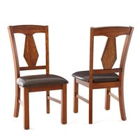 Lansing Medium Oak and Leatherette Dining Chairs (Set of 2)  by Greyson Living