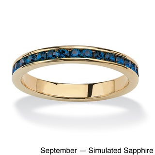 14k Goldplated Birthstone Stackable Eternity Band (More options available)