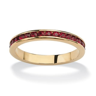 PalmBeach Birthstone Stackable Eternity Band in 14k Gold-Plated Color Fun