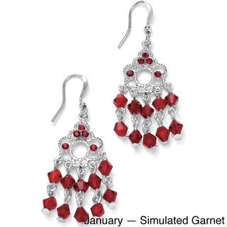 Round Birthstone Silvertone Chandelier Earrings Color Fun|https://ak1.ostkcdn.com/images/products/9199621/P16371671.jpg?impolicy=medium