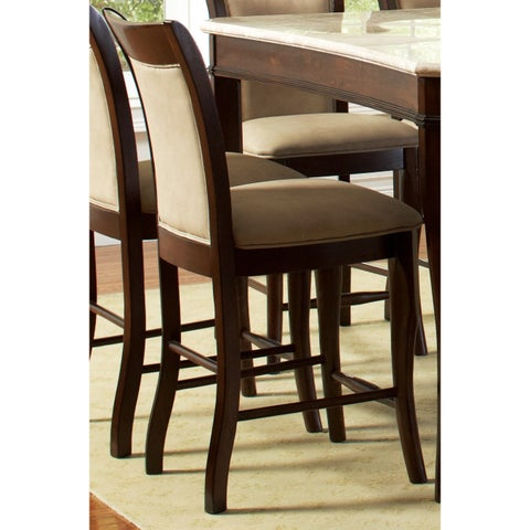 Greyson Living Madaleine Merlot Cherry Counter-height Dining Chair (Set of 2) - 41 inches high x 19 inches wide x 23 inches deep