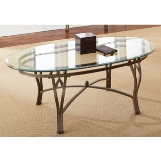 Maison Glass Top Oval Coffee Table By Greyson Living
