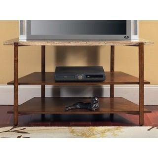 Toledo Faux Marble Media Stand by Greyson Living