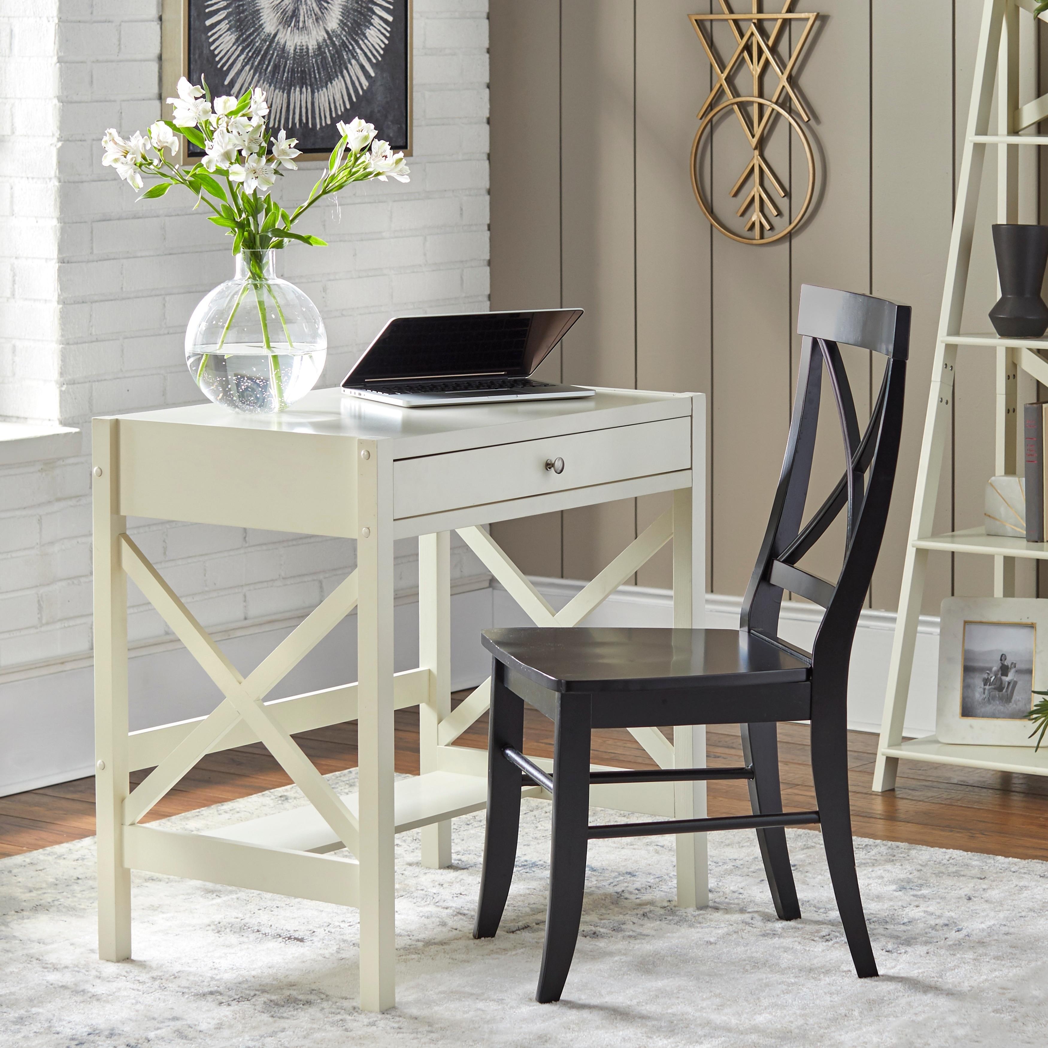 Simple Living Antique White X Desk (X Desk, Antique White)