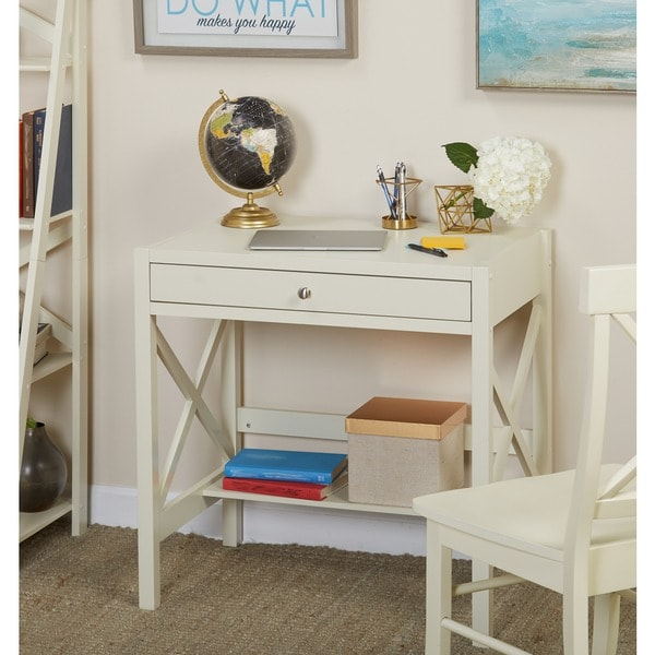 Simple Living Antique White X Desk Free Shipping Today