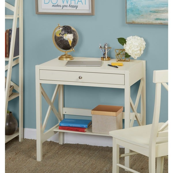 Simple Living Antique White X Desk - Shop Simple Living Antique White X Desk - On Sale - Free Shipping