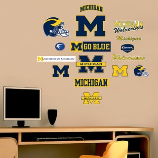 Fathead Jr. Michigan Wolverines Logo Assortment Wall Decals