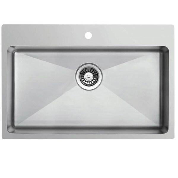 Ukinox RFU837 Single Basin Stainless Steel Dual Mount Kitchen Sink